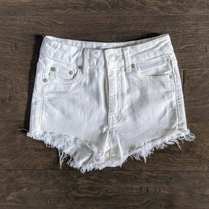 Talula White Cut Off Shorts